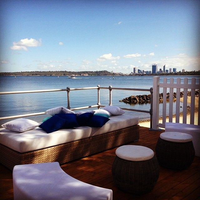 The Outdoor Summer Beach Marquee has stunning views of the Swan River and the City of Perth and is the perfect venue for your Wedding Reception.