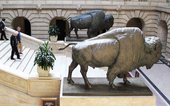 Public Winnipeg Art: Bison  #Winnipeg #art #publicart
