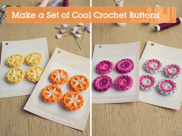 Crochet buttons. Free pattern