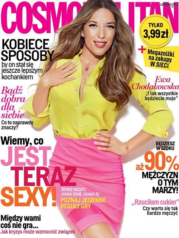 COSMOPOLITAN edycja polska / Ewa Chodakowska / listopad 2013    www.cosmopolitan.pl
