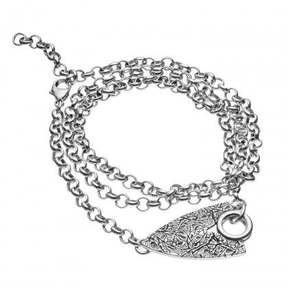 Kalevala Koru / Kalevala Jewelry / Elämän roihu -rannekoru / Live Hard Live Your Dream Bracelet / collection is inspired by the Dudesons and produced by Kalevala Jewelry / Material: silver