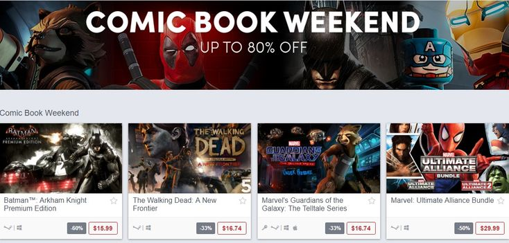 Humble Bundle Is Holding A Comic Book Game Weekend Sale