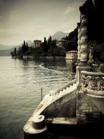 Lombardy, Lakes Region, Lake Como, Varenna, Villa Monastero, Gardens and Lakefront, Italy Photographic Print at AllPosters.com