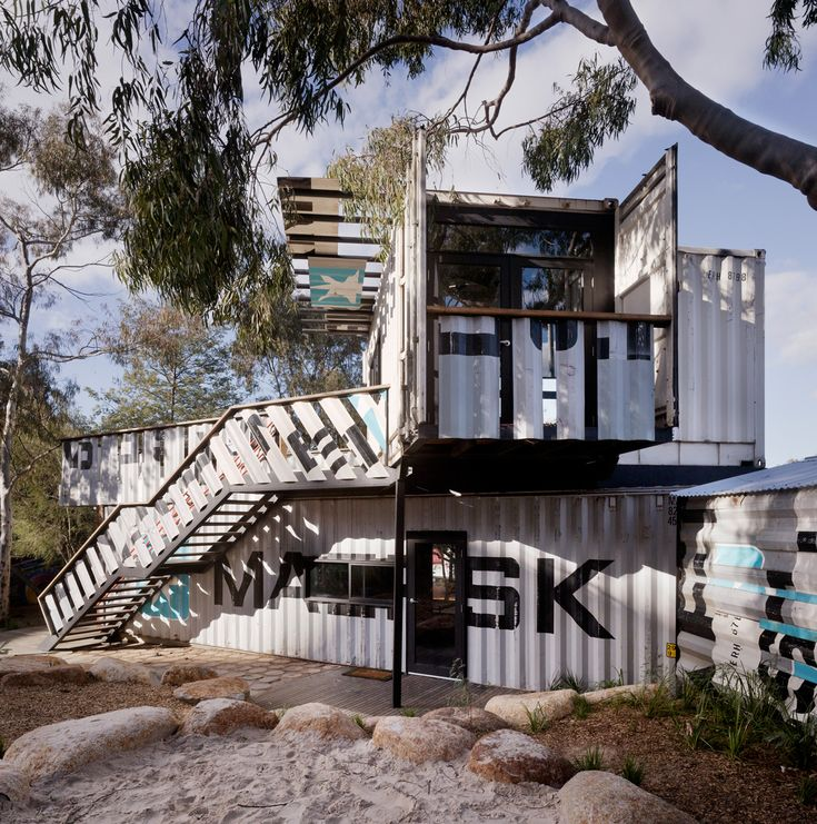 childrens activity centre by phooey architects shipping container architecture - Seecontainerhuser Wa