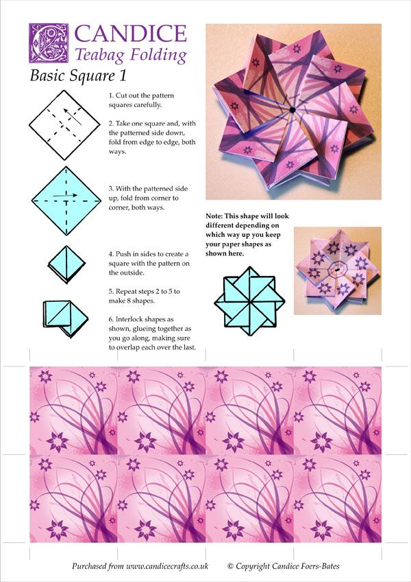 origami flower instruction diagram headphone with mic wiring 54 best tea bag folding patterns images on pinterest | origami, paper and crafts