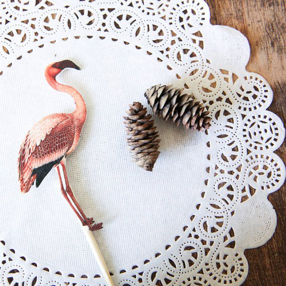Pink Flamingo Plant Topper / Plant Décor / by PastelToppers