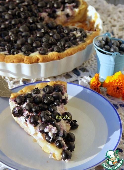 Финский пирог с черникой/голубикой - кулинарный рецепт