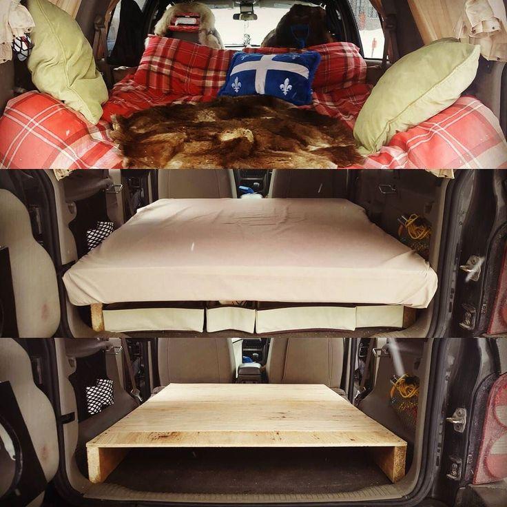 Faire un #camper à partir d'un #Jeep #Liberty. Making a camper from a Jeep Liberty. #roadtripper #roadtrip #canada