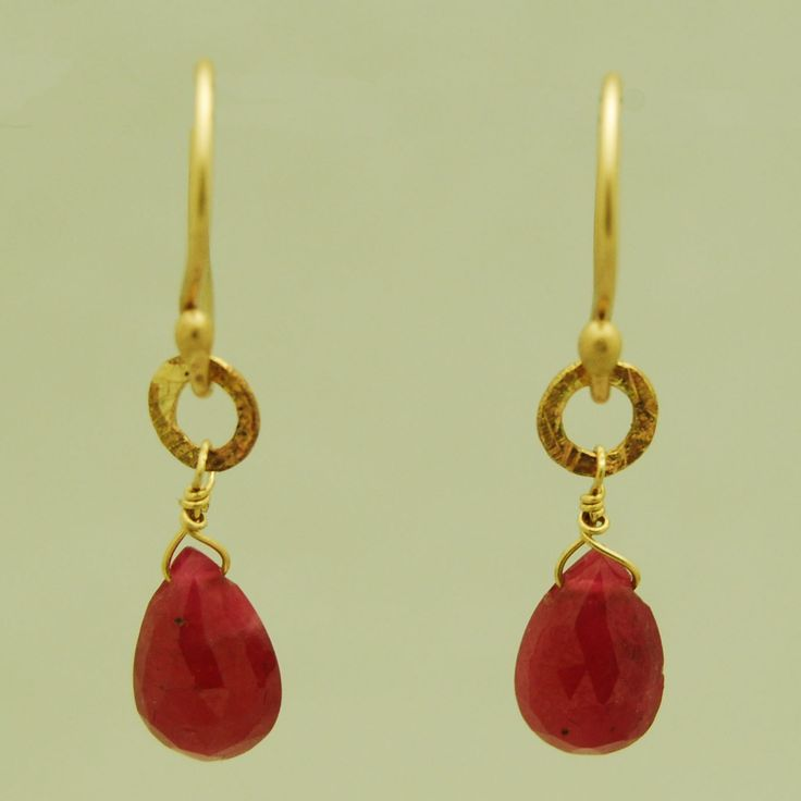 Ruby 14Kt Gold Earrings