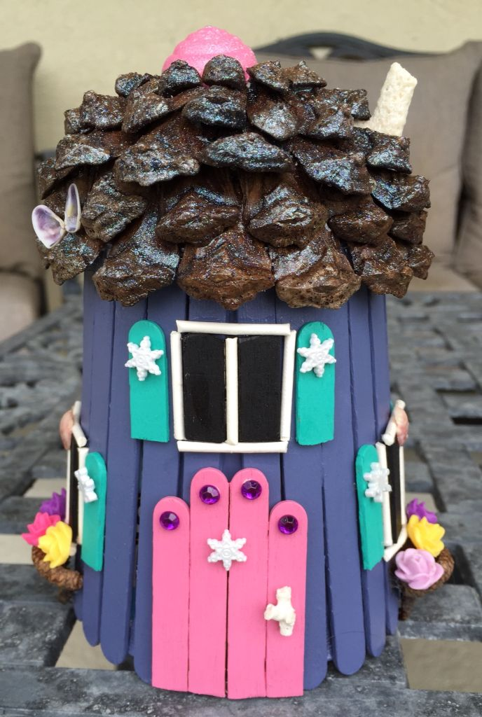 My First Faerie House I Made It With A Ben Amp Jerry S Ice
