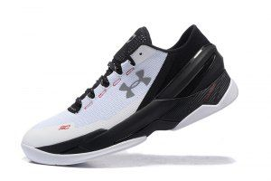 cc698056bba2 Mens Under Armour UA Curry Two 2 Low Black Stealth Gray Basketball Shoes