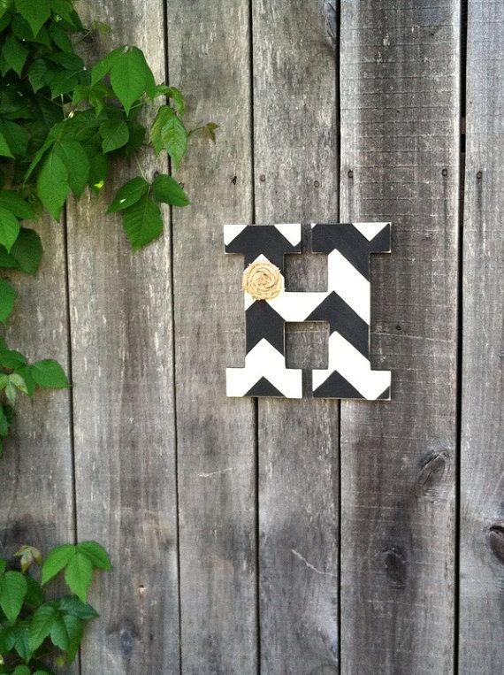 Pottery Barn inspired Chevron painted Letter  by WoodSandPaint,