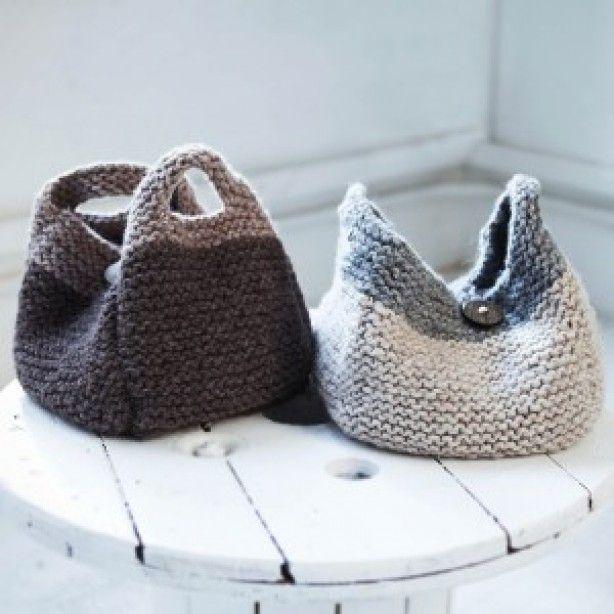 Gebreide tassen, knitted bags