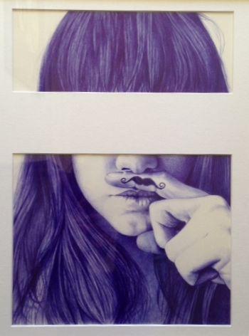 Ballpoint pen drawing / art