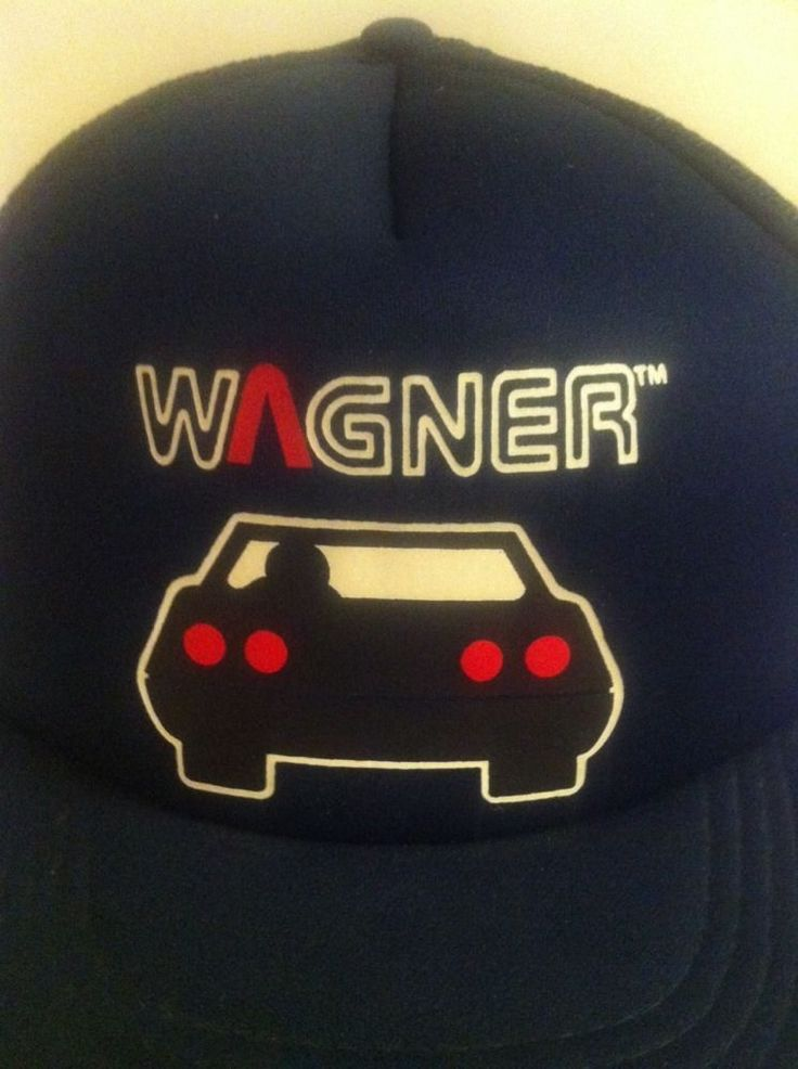 Vintage WAGNER Brakes Snapback HAT Navy Blue 80s Retro CAP One-Size