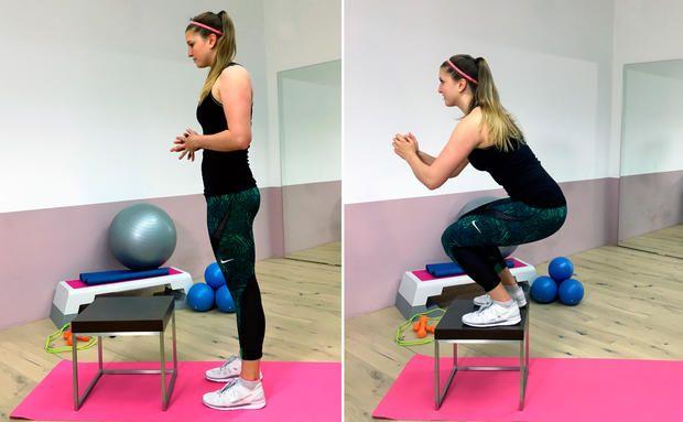 Fit in 60 Sekunden: Box Jumps. Fitness Training für zu Hause. Gute Kondition und eine schöne Figur. Sport und Fitness. Bodyshape und starke Muskulatur. www.klarafuchs.com #homeworkout #fitness #sport