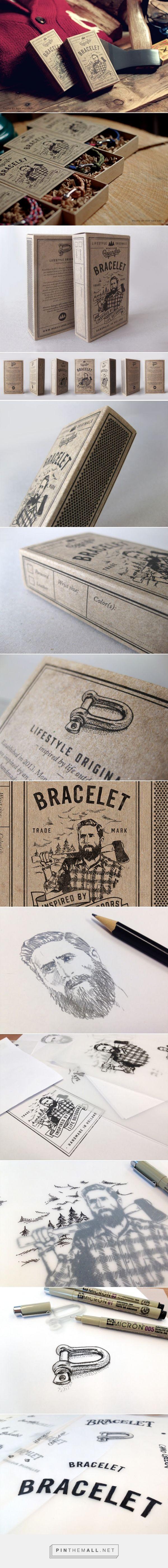 Monsieur Bojangles #bracelets in #matchbox designed by Peter Kortleve - http://www.packagingoftheworld.com/2015/07/monsieur-bojangles.html - created via http://pinthemall.net