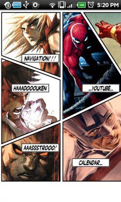 Theme inspired by Marvel vs Capcom.
