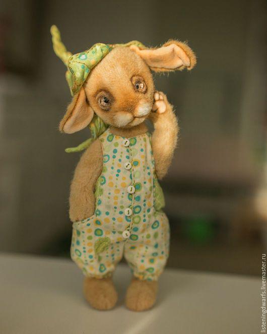 Teddy Bears handmade. Teddy Bunny Lambert, designer toy, plush rabbit. Aleksandra Kulikova (listeningdwarfs). Online shopping on My Livemaster. #teddy #bear #teddybear #handmade #artdoll #ooakteddy #toy #bunny #teddybunny #rabbit #teddyrabbit #motherday