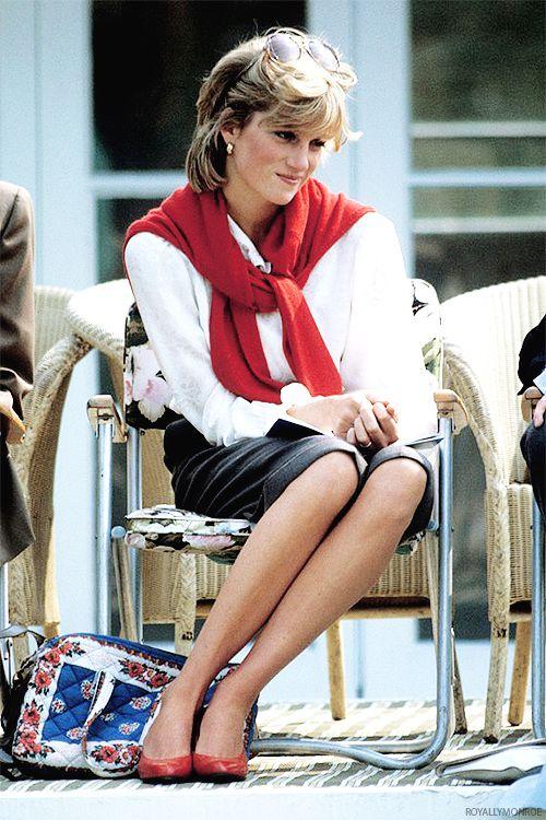 Diana, Princess of Wales, at a polo match in May, 1983.