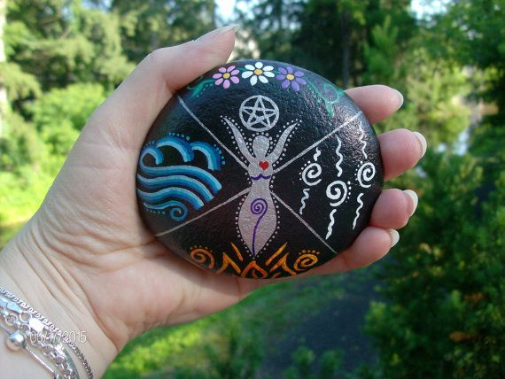 Elemental Goddess Home Protection Stone/Altar by MarciaStewartArt