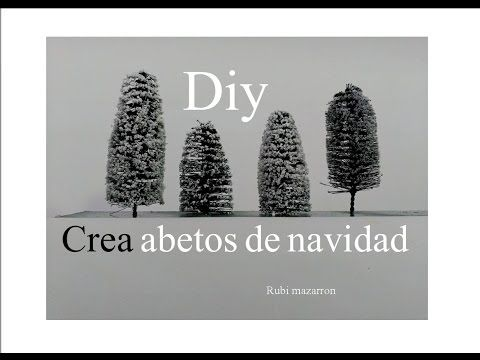 Diy. Crea tus abetos de navidad.