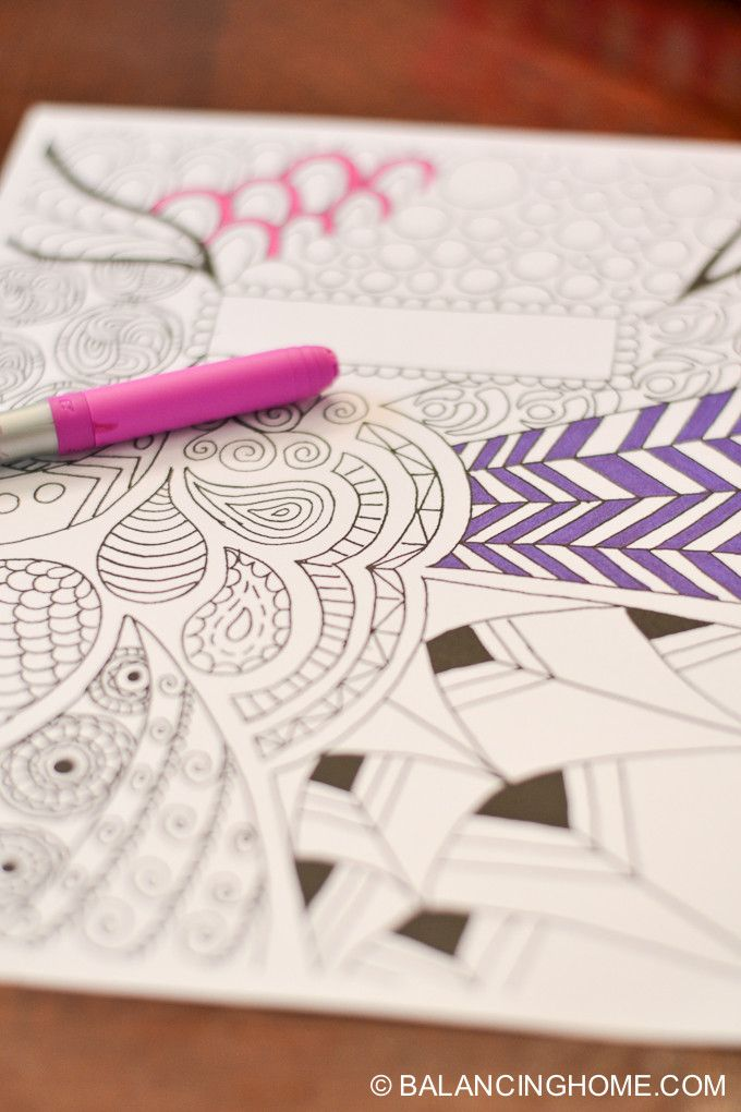 coloring page binder cover printable
