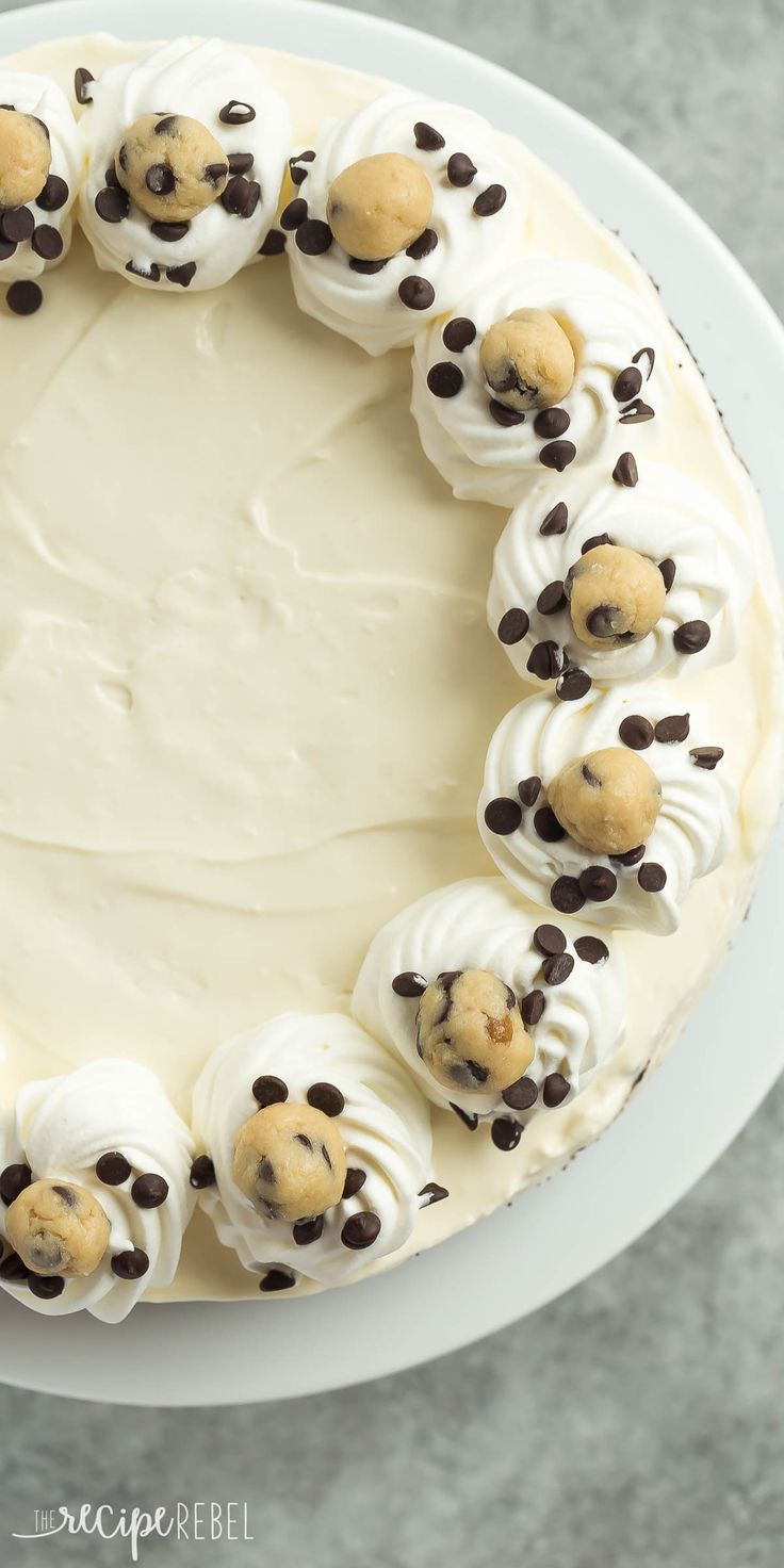 Everyone Loved This No Bake Cookie Dough Cheesecake It S Made With Edible Cookie Dough