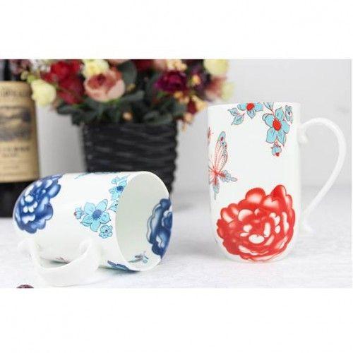 Bone China Mug - Butterfly Print - Shop Online Now at www.lillyjack.com.au