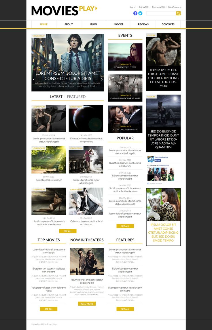 Choosing a basic website template with white background for your fashion blog doesn't mean that it would be dull. Featuring a completely streamlined look, this design makes viewers focus strictly o...