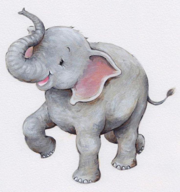 Розовый слон картинки карандашом