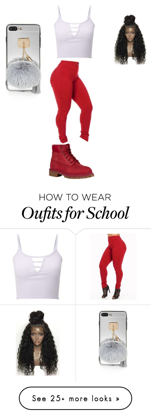 """""""Untitled #142"""" by liyahbaby53 on Polyvore featuring Miss Selfridge, Timberland and WithChic"""