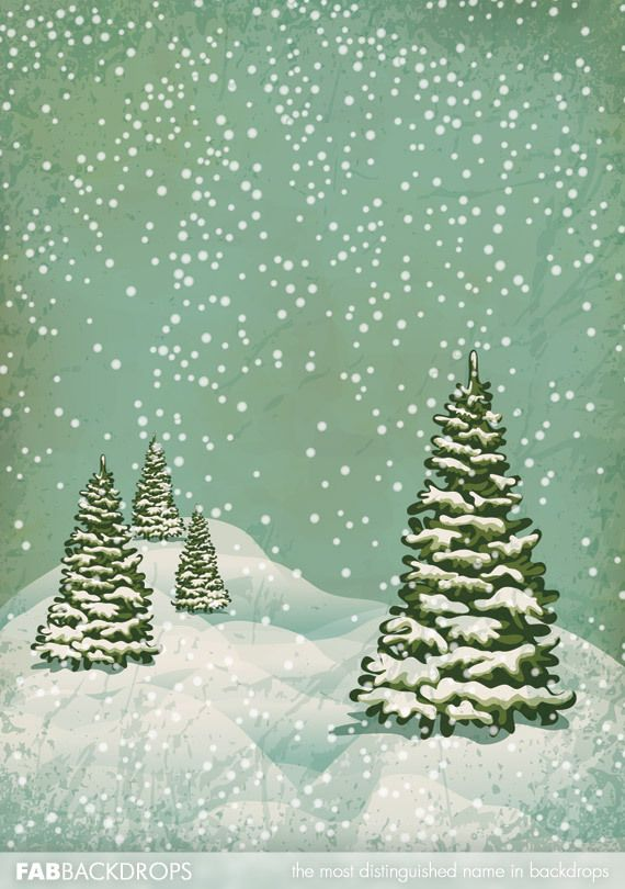 Christmas Trees By Robert Frost Part - 47: Fab Vinyl Snow Falling On Christmas Trees Backdrop