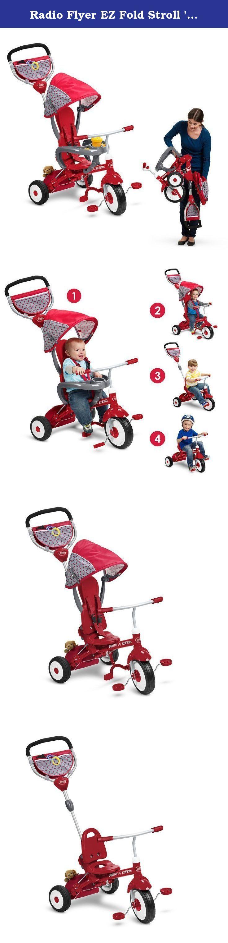 Radio Flyer EZ Fold Stroll 'N Trike Ride On, Red. The EZ