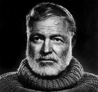 """""""There is nothing to writing. All you do is sit down at a typewriter and bleed."""" Ernest Hemingway"""