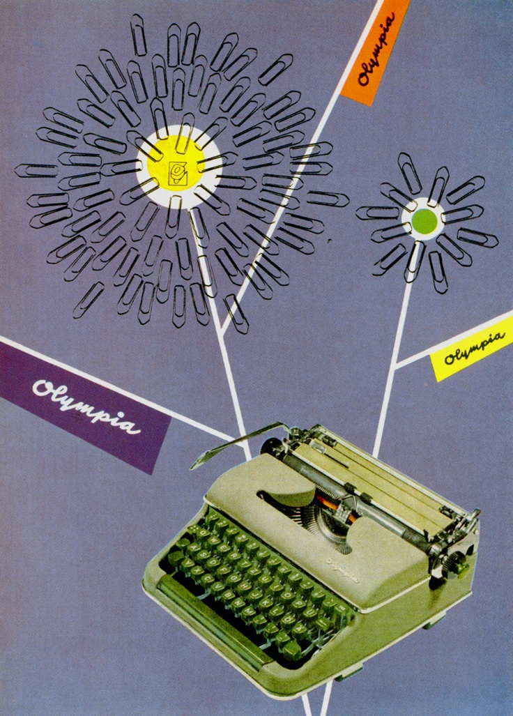 Olympia ad (ok - Olivetti is not the only one who produced cool typewriter ads...-@OttoSteininger)