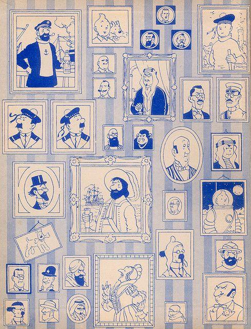 """Innencover """"Tim und Struppi"""" ---- Tintin inner book cover"""