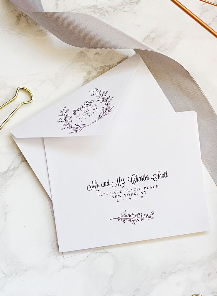 Why hire a professional calligrapher when you can make your own printable envelope template and address your wedding invitations at home for free