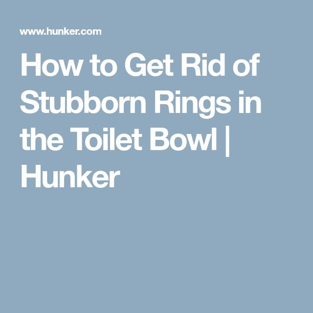 How to Get Rid of Stubborn Rings in the Toilet Bowl | Hunker