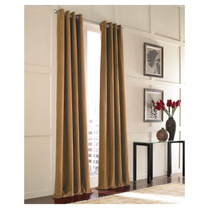 Curtainworks Messina Lined Curtain Panel - Chestnut (Brown) (108)