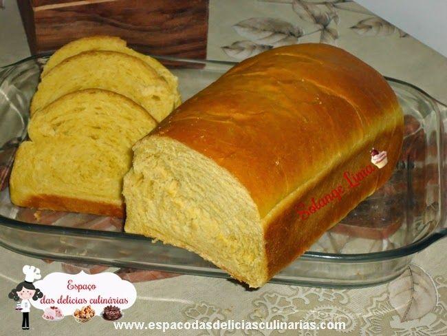 Pão de forma de cenoura, massa feita na MFP - Espaço das delícias culinárias