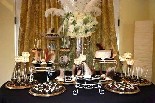 Gatsby Party Dessert Table Gatsby Inspired Wedding