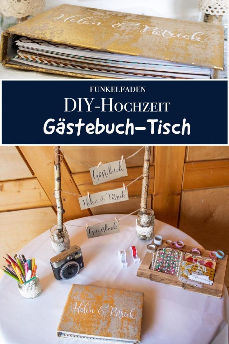DIY – Livro de visitas para o casamento – Uma mesa especial para livros de visitas> Instruções, Faça você …   – Diy Deko