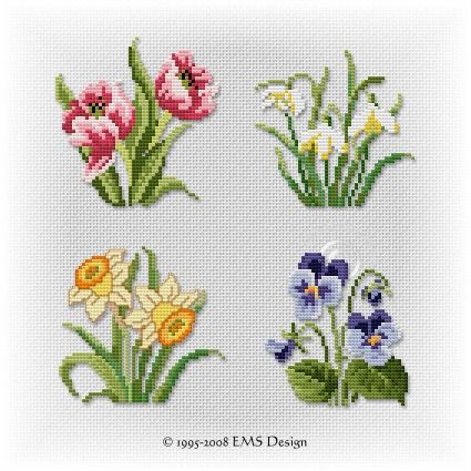 "Set ""Spring Studies"" (4 motifs)"