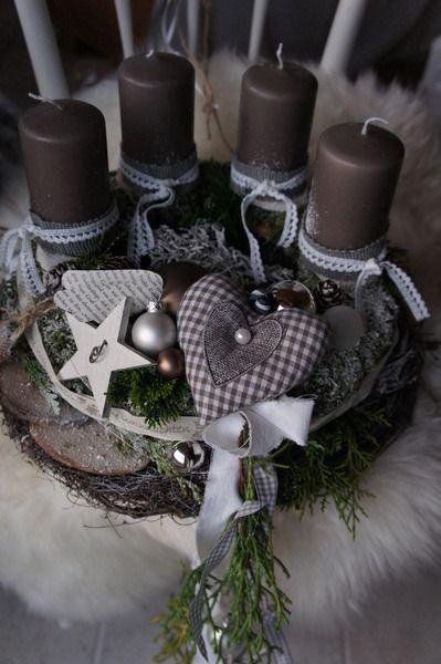 """Adventskranz """" Herzallerliebst...."""" von Hoimeliges..... auf DaWanda.com"""