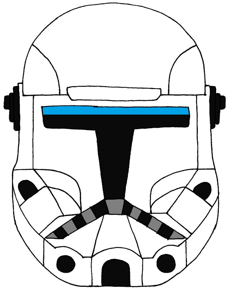 Clone Commando Standard Helmet Star wars commando, Star