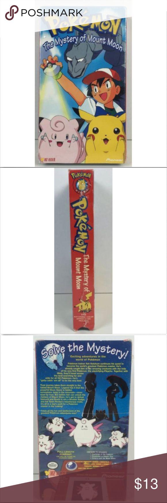Pokemon Vol 2 The Mystery Of Mount Moon VHS, 1999 Factory Sealed Pokemon Vol. 2: The Mystery Of Mount Moon (VHS, 1999) Pokemon Other