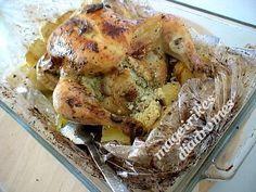 Γεμιστό κοτόπουλο με τυριά στη σακούλα
