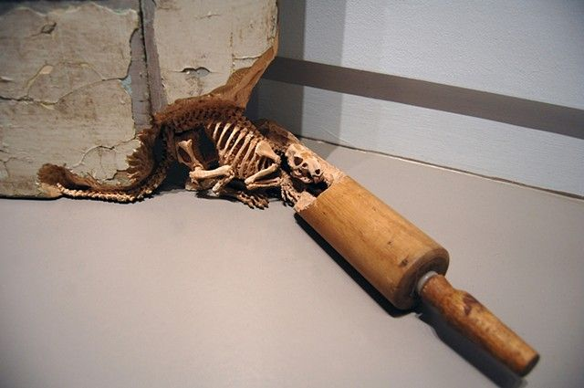 New Skeletons and Insects Carved from Common Inanimate Objects by Maskull Lasserre