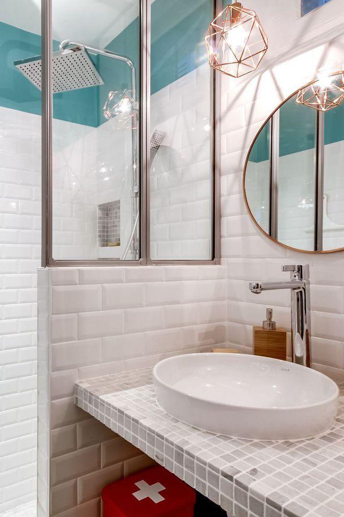 Les 25 meilleures id es de la cat gorie verriere leroy merlin sur pinterest porte coulissante - Petite salle de bain contemporaine ...